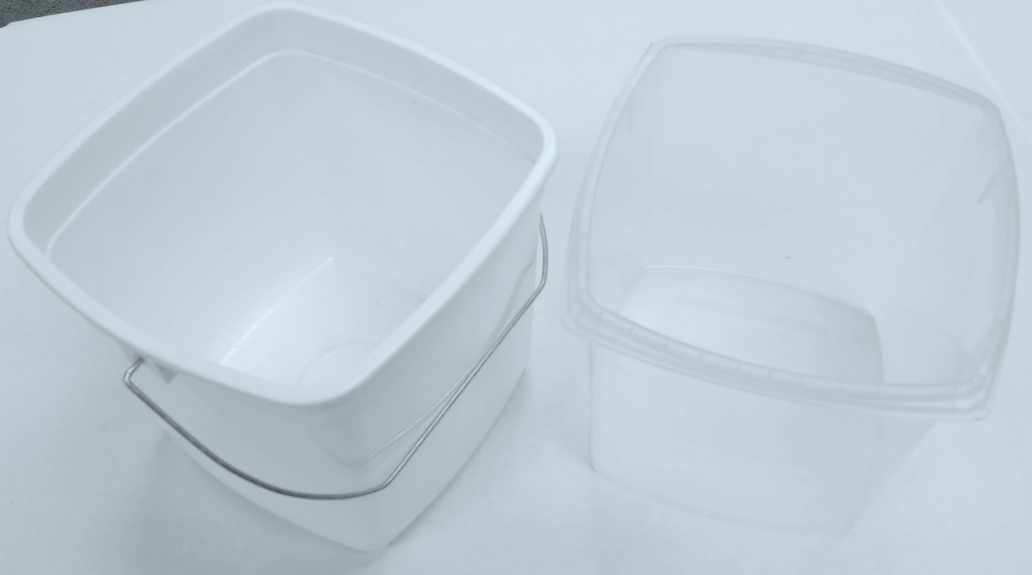 plastic square tub packaging